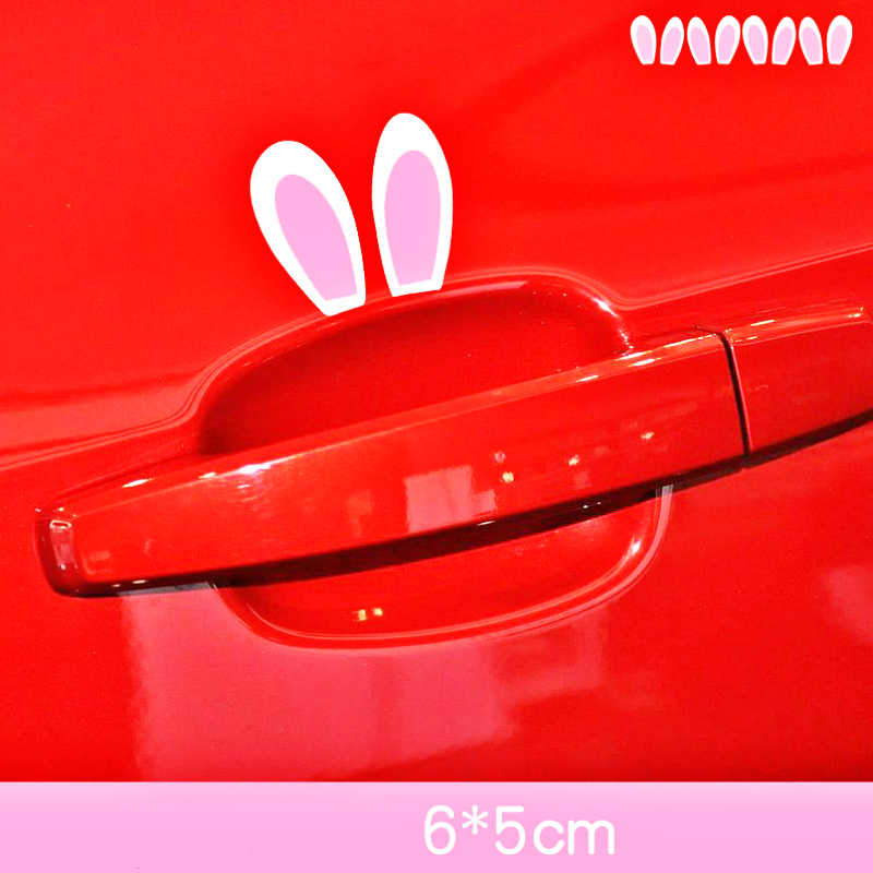 Etie Car-styling Cartoon Cute Rabbit Ears Sticker & Decal for BMW X1 X3 X5 1series 3series 5series 7series ///M Series Coupe