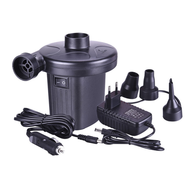 4000 6000pa Air Pump Eu 12v Car Electric Inflator For Camping Air Bed Mattress Boat Inflator