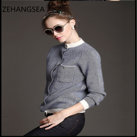 Autumn and winter new wool cardigan large size simple fashion solid color loose breathable comfortable sweater cardigan
