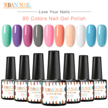 RBAN NAIL 7ml Color Gel Nail Polish Glitter Pure Varnish Set For Manicure Semi Permanent Soak Off UV Led Art Laquer