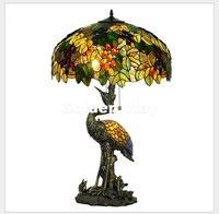 Free Shipping Tiffany Table Lamps D51cm H86cm Decora Luxurious Garden E27 Bedside Lamp Living Room Decoration Bedroom Table Lamp