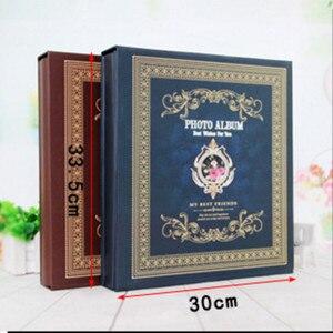 Image 2 - 6 zoll 500 Blätter Retro Boxed Fotoalbum Einfügen Sammelalbum 4R Kinder Album Hause Paare Hochzeit Alben Foto Hause Dekoration