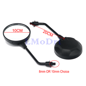 Image 2 - LMoDri Motorcycle Rear View Mirror Universal Scooter Back Mirrors Electric Bicycle Moped Side Mirror 8mm 10mm Round Covnex