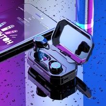 Bluetooth 5.0 À Prova D' Água 3D Verdadeiro Som Estéreo Fones de Ouvido Sem Fio com 3000 mah Caso De Carregamento Microfone Embutido Som de Alta Fidelidade de Graves Profundos