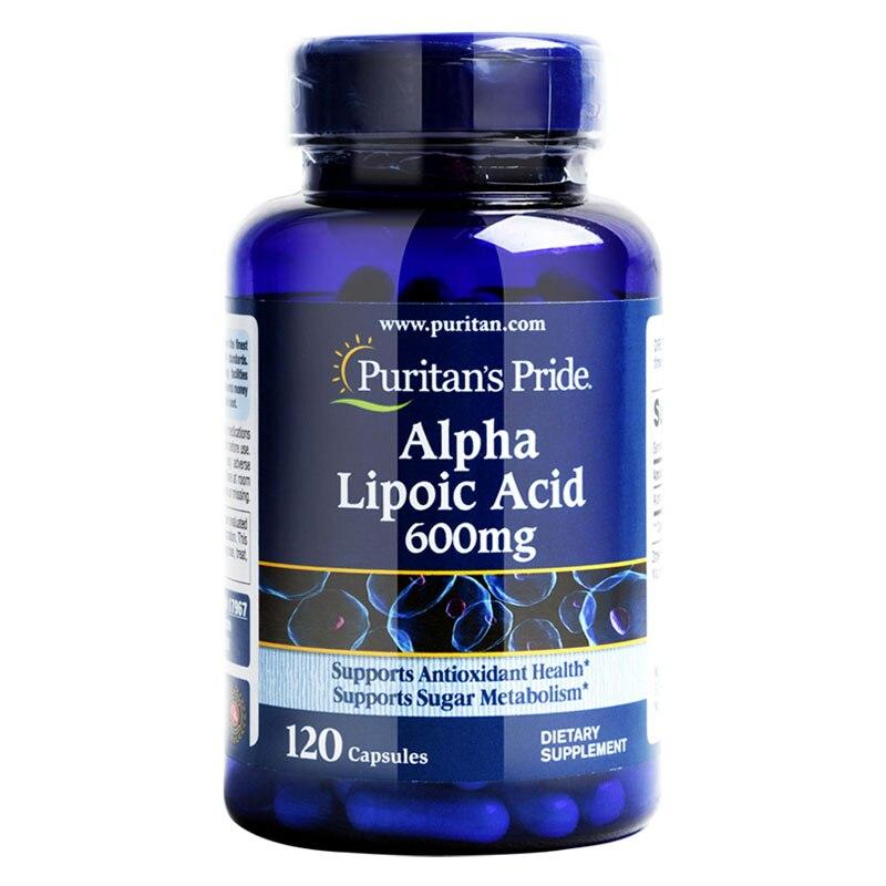 Free Shipping Alpha Lipoic Acid 600 mg 120 pcs gmp high quality alpha lipoic acid water soluble antioxidant 1000grams free shipping