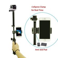 Gopro Accessories 3 way grip arm tripod with cellphone clamp mount for hero4 session 4 3 SJCAM Xiaomi Yi 2 4k Action Camera