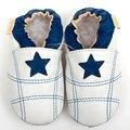 Bebé de cuero zapatos de los bebés mocasines blanco niña zapatillas suave recién nacido bebé zapatos primeros caminante del niño de los cabritos del muchacho 0-4y