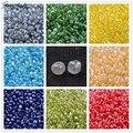 Trans. colores Abrillantado 2/3/4mm Fabricación de Joyas de Cristal CALIENTE de Cristal bolas de Semillas Sueltas para DIY Collar Anillo Joyería de la pulsera Redonda