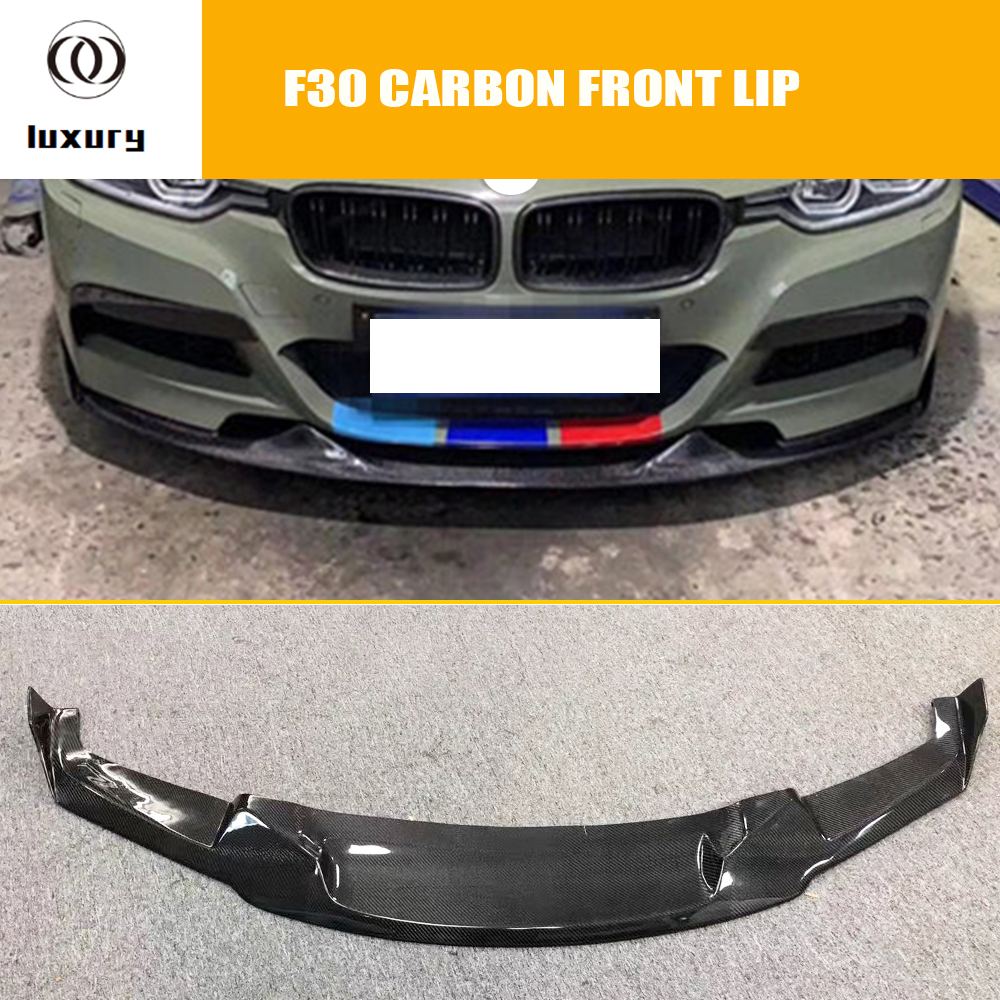 Mad Styling Carbon Fiber Front Bumper Chin Lip For Bmw F30 3 Series