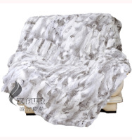 CX-D-12A Bedding Patchwork Real Rabbit Fur Blanket Throw Blanket Custom  Made Natural 19a0f55d2