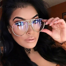 Coodaysuft Oversized 2017 New Aviation Famous Brand Designer Women Men Mirror Pilot Sunglasses Driving Sun Glasses Male Female