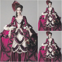 New!Customer made Luxs Victorian Dresses 1860S Civil War dress Marie Antoinette Ball gown dresses All size C 1039