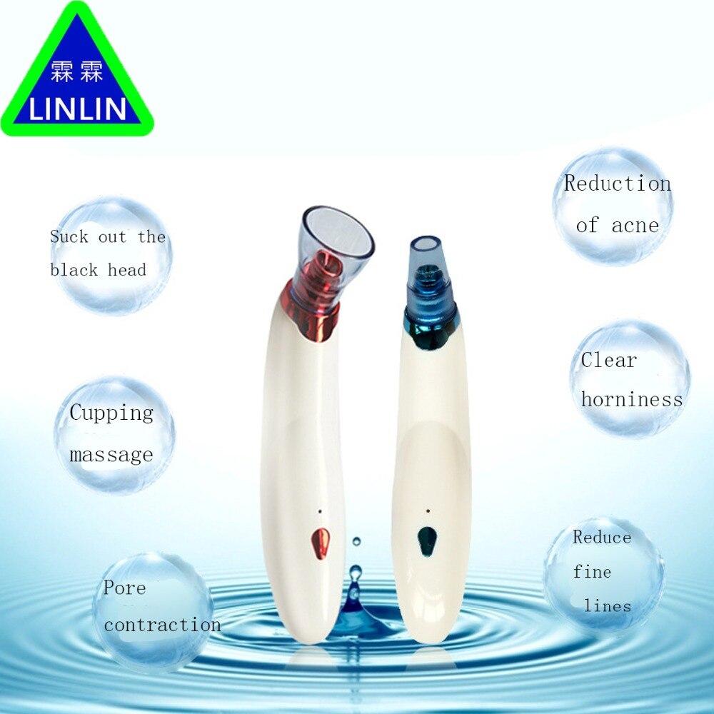 Linlin diamante Dermabrasion blackhead Partes de aspirador succión eliminación cicatriz acné pore peeling Cara facial limpia Cuidado DE LA PIEL cupping