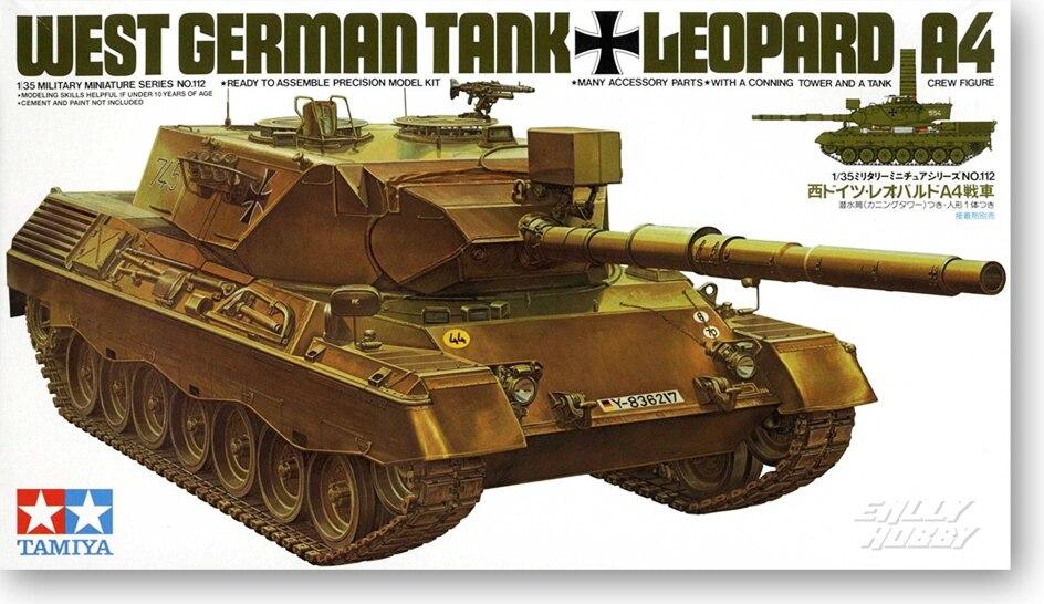 Tank Model 1/35 German Leopard A4 Medium Tank 35112Tank Model 1/35 German Leopard A4 Medium Tank 35112