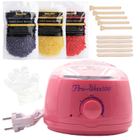 Brazilian Depilatory Wax Set Hot Hard Wax Beans Epilation Natural Pearl Wax Heater For Bikini Body