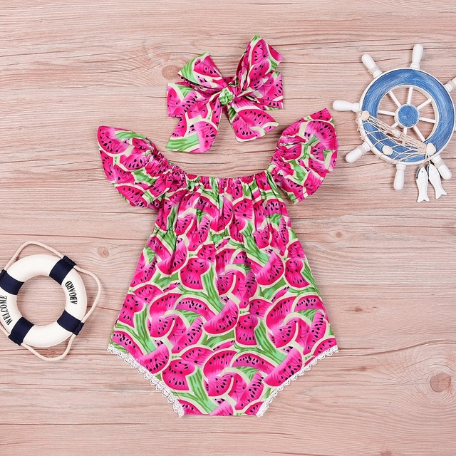 Summer Clothes For Kids For Girls Clothes For Children Water Mellon