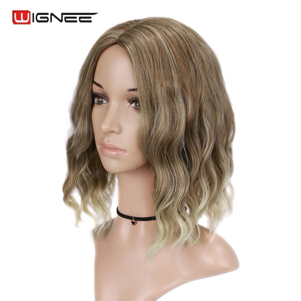 Wignee Mixed Color 613 Korta Kinky Curly Parykar För Kvinnor Hög - Syntetiskt hår - Foto 2