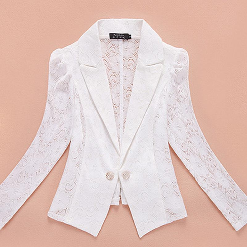 2017 Women Blazers Suit Lace Patchwork Embroidered elegant outerwear women casual