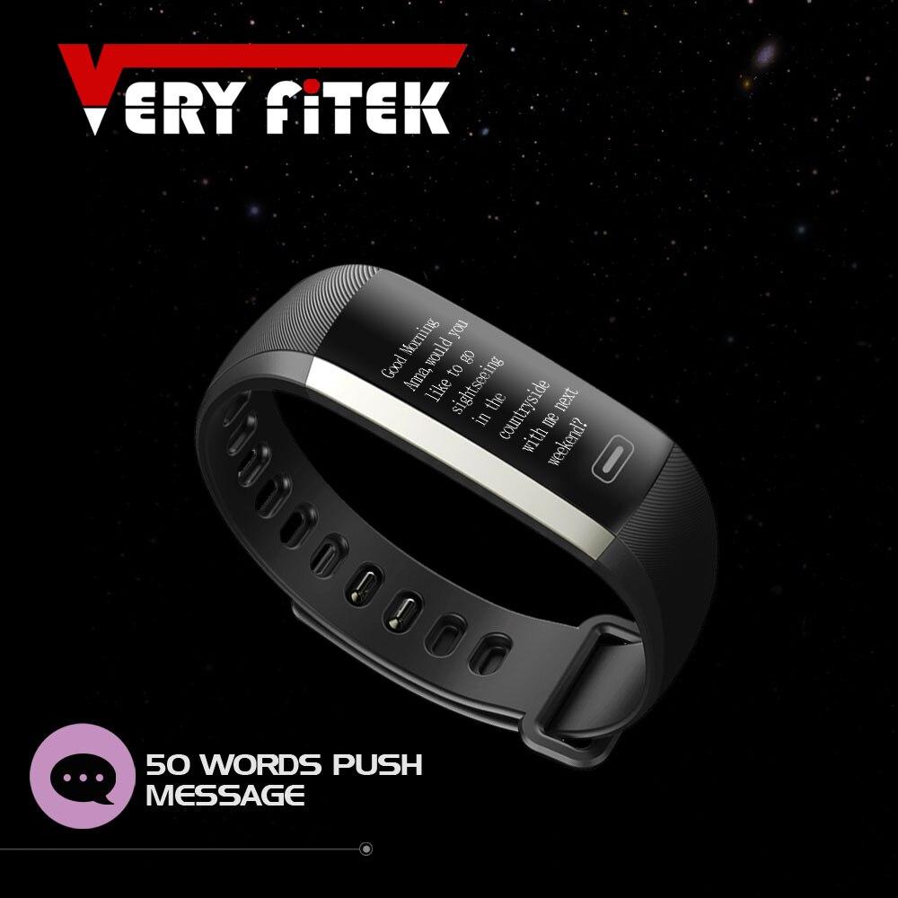 Smart Fitness Armband Intelligente Push-nachricht 50 Worte Blutdruck Sauerstoff Pulsmesser pk für TEZER R5MAX Armbänder