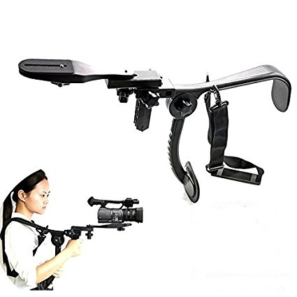 2017 New design Hand-Free Pro Camcorder Arm Shoulder Mount Stabilizer Support holder for Video Camera DV / DC Camcorder HD DSLR coco cc vh02 c shape mount holder handle for dslr camcorder dv black