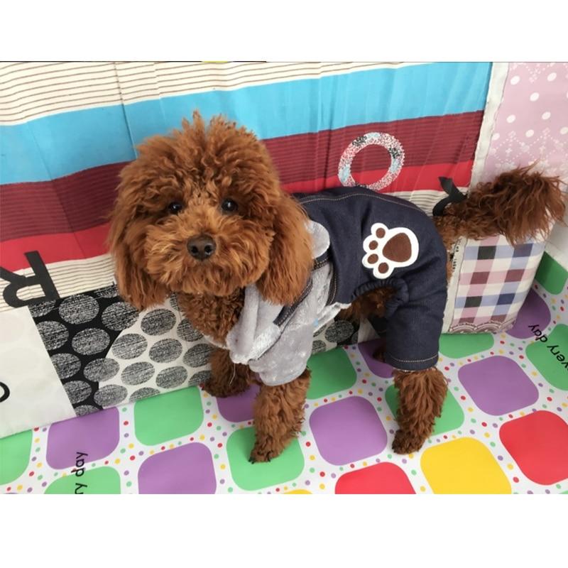 Winter Pet Dog Jumpsuit For Small Dogs Fleece Cotton Pet Dog Sweater Puppy Jumpsuit Yorkie Romper Cat Dog Jumpsuit Clothes RQ005 (10)