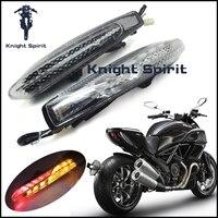 Для DUCATI Diavel/углерод 2011 2012 2013 2014 2015 мотоцикл встроенный СВЕТОДИОДНЫЙ фонарь поворотов мигалка лампы левой и правый