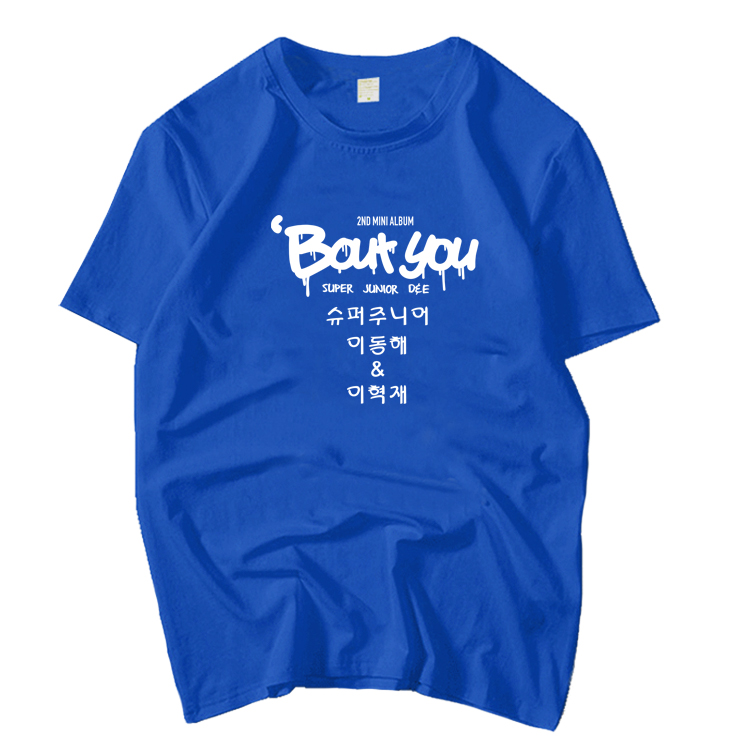3d9765a4 [BIG SALE] CHEAP Super junior D&E 2nd mini album bout you same printing o  neck t shirt for summer kpop unisex fashion short sleeve t-shirt |  www.luserna.org