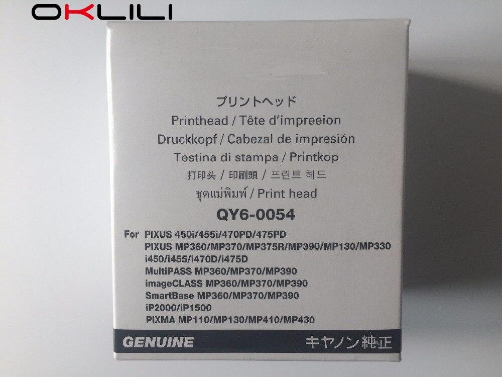 ORIGINAL NEW QY6-0054 Printhead Print Head for Canon 450i 455i 470PD 475PD MP375R MP390 MP360 MP370 i450 i470D i475D iP2000