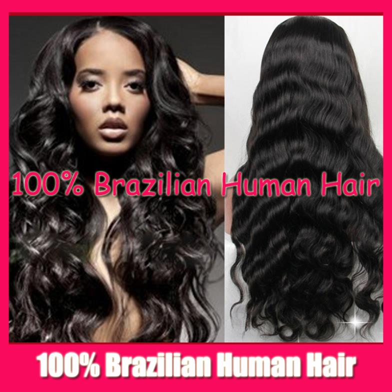 Stock Wig Body Wave 100% Virgin human real Hair Full Lace wig / Glueless Front Wigs Black Women Tangle free shedding - Fashion Beauty Mall store