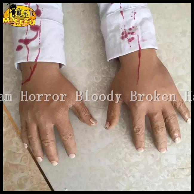 2016 funny scary broken feet blood horror broken hand halloween