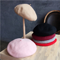 100% Wool Women Artist Berets Boina Cap Autumn&Winter Vintage Soft Felt Beanie Hat Fashion Classic Beret Female Stewardess Hats