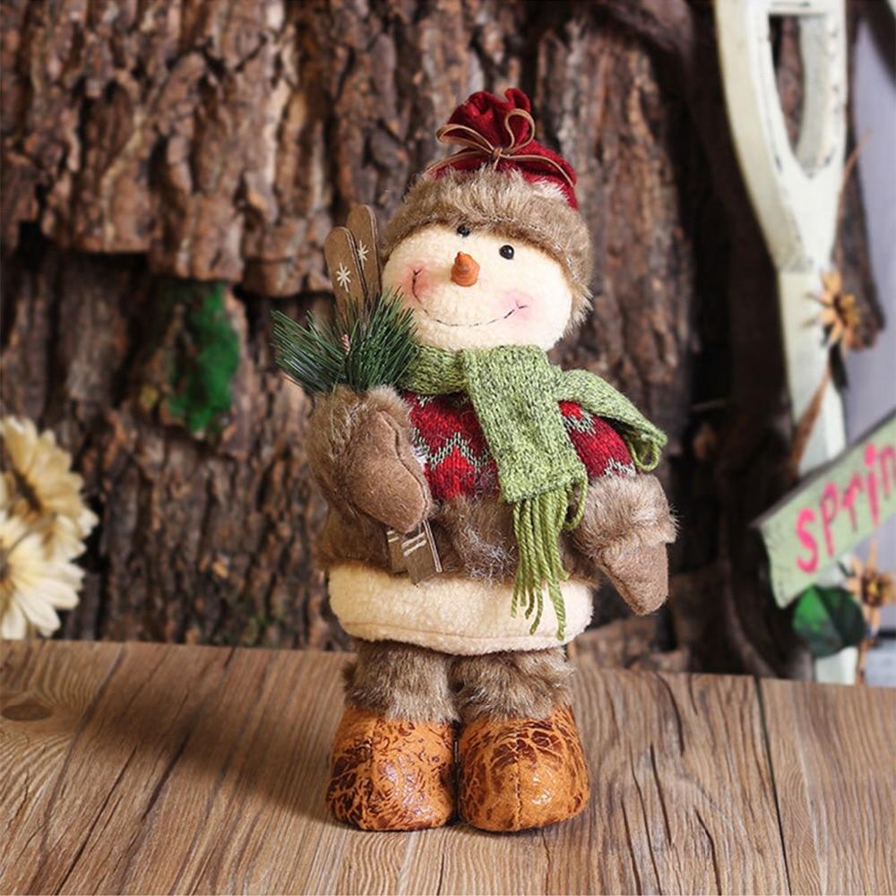 Retro Weihnachtsgeschenke Weihnachtsmann/Schneemann/Deer Puppen ...