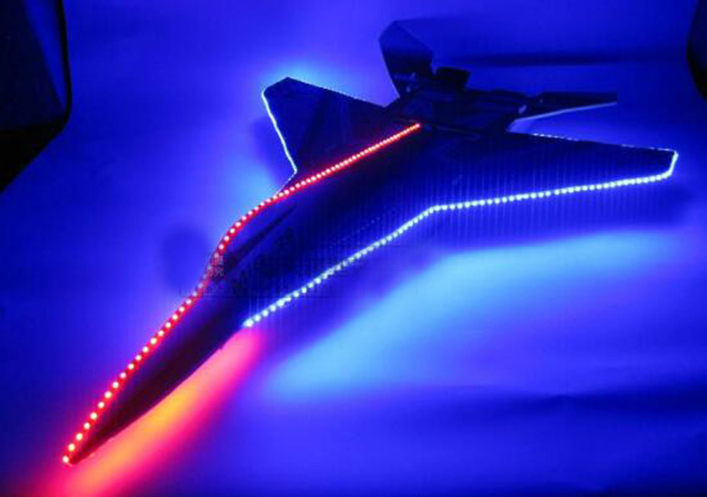 1pc 12V SU27 LED Strip Colorful Navigate Lights for Fix Wing Remote Control KT Airplanes RC Models