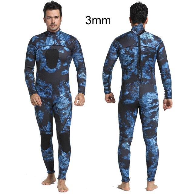 c7b1195a5db4 Traje de neopreno 3 MM para hombre, traje buceo cuerpo completo, invierno,  natación, Surf, buceo, agua pesca esquí