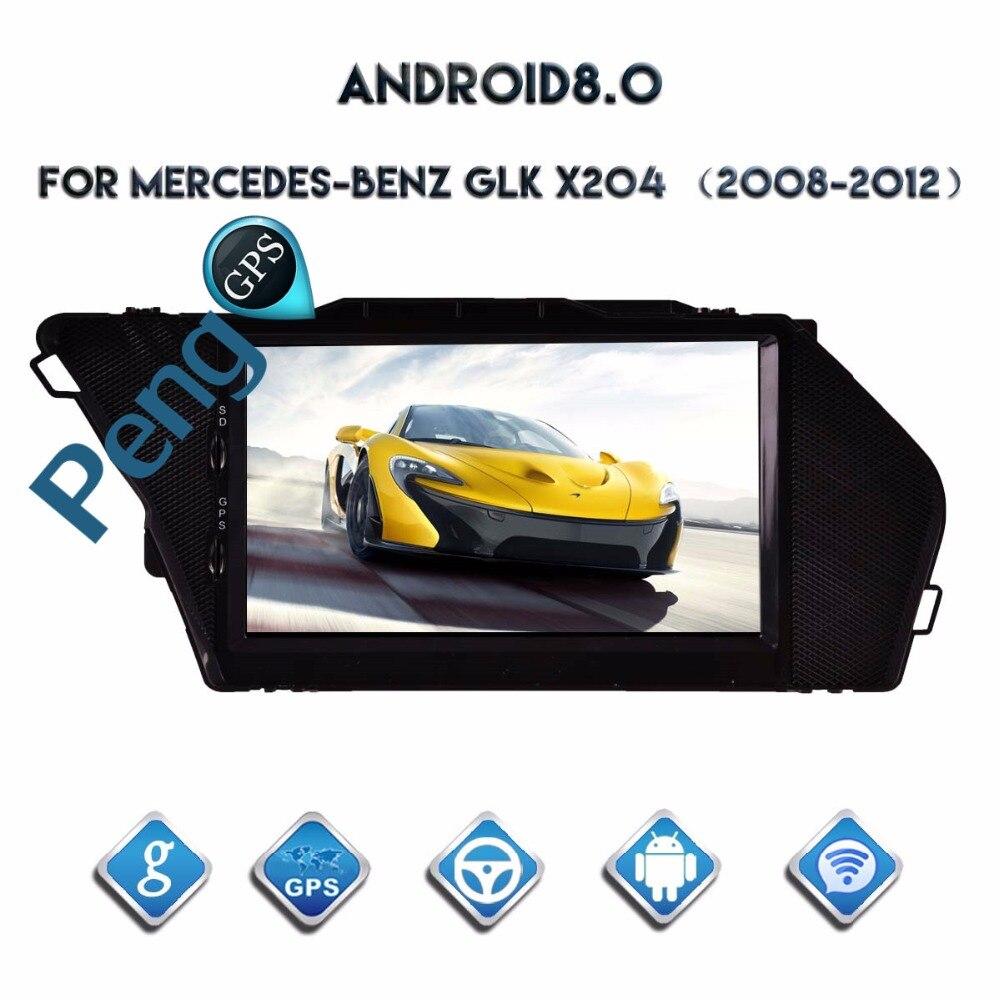 Octa Core reproductor de DVD 2 Din estéreo Android 8,0 Radio del coche para Mercedes-Benz GLK X204 2008-2014 navegación GPS Autostereo Unidad Principal
