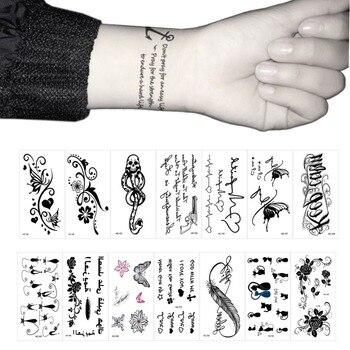 2018 Fashion Wrist Flash Tattoo Fake Tattoo Words Design Waterproof Temporary Tattoo Sticker For Body Art Women Tattoos #280878