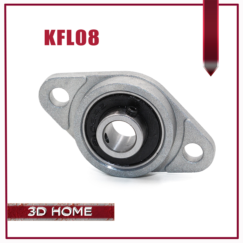 2pcs KFL08 FL08 Flange Bearing with Pillow Block 8mm Caliber Zinc Alloy Pillow Block Bearing for CNC for 3D printer Lead screw 8mm inner diameter zinc alloy pillow block flange bearing kfl08