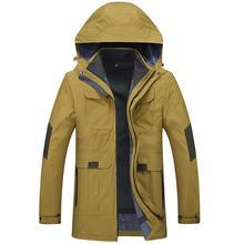 2017 Plus Size 10XL 9XL 8XL 6XL 5XL 4XL Waterproof Winter Jacket Men Warm 2 in 1 Parkas Windproof Detachable Hood Winter Coat