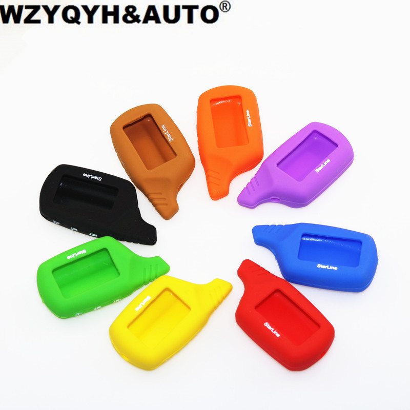 NEW Key Cover B9/B6 LCD Silicone Case for original Starline B9/B91/B6/B61/A91/A61/V7 LCD Keychain Car Remote 2 Way Alarm цена