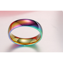Women's Rainbow Stainless Steel Ring