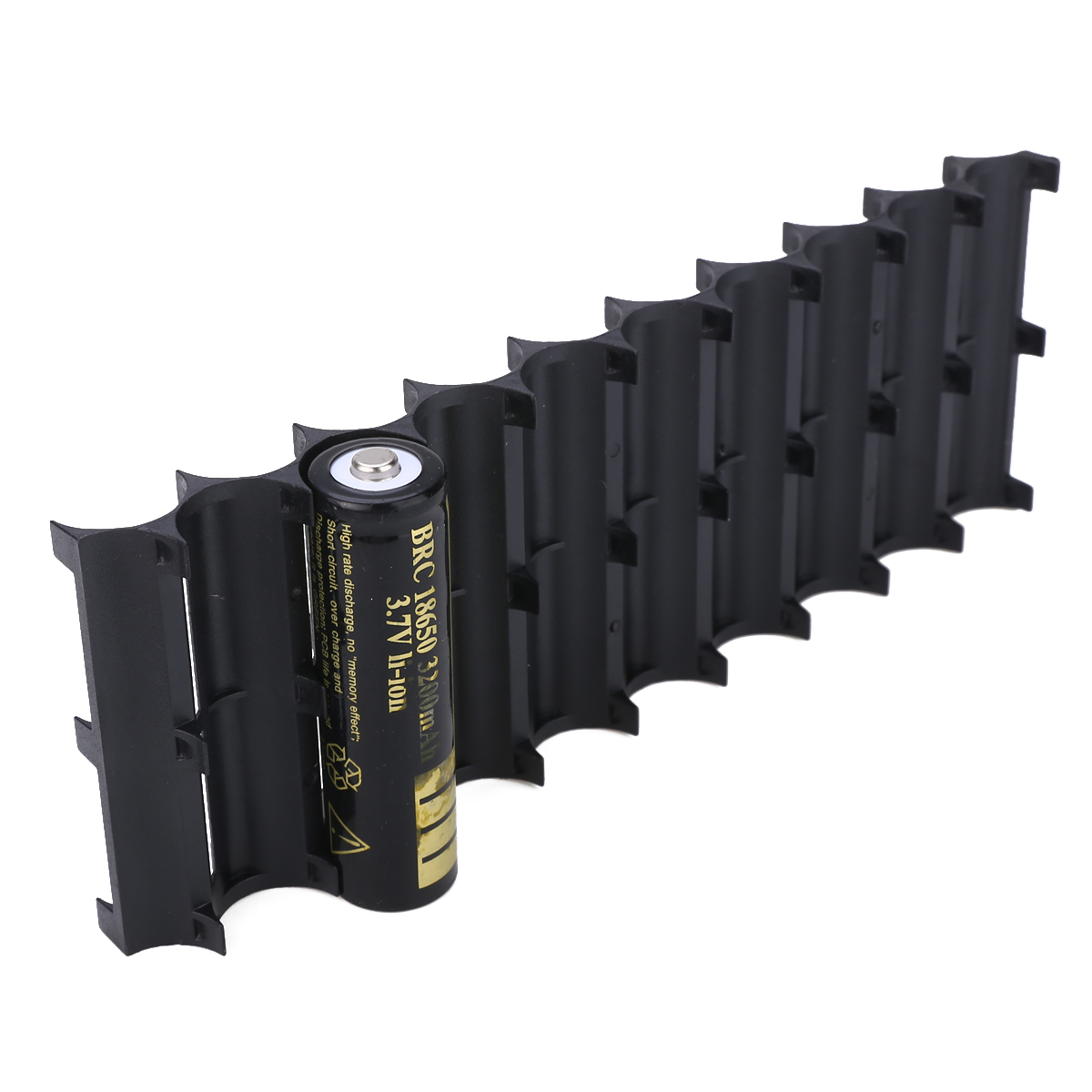 Newest 2pcs Black 10x Cell Plastic 18650 Battery Spacer Holder Cylindrical Cell Bracket For 18650 Battery Accessories in Battery Storage Boxes from Consumer Electronics