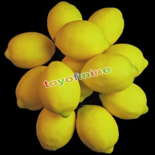 2015 Hot Sale Real Elf Ears Caixas Decorativas 10 Lifelike Decorative Plastic Artificial Fake Fruit Home Deco Craft Lemon Yello
