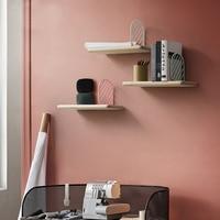Nordic Wall Decoration Magazine Storage board kitchen Holders Racks wood Modern Design Hanger metal Rails bookrack book shelf