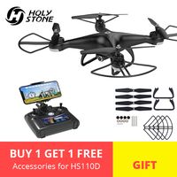 [EU USA Stock] Holy Stone HS110D 720P HD Camera FPV 3D Flips RTF with 4G TF Card RC Helicopter WiFi APP Altitude Hold Quadcopter