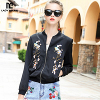 New Arrival 2017 Autumn Women's Stand Collar Long Sleeves Embroidery High Street Fashion Jackets