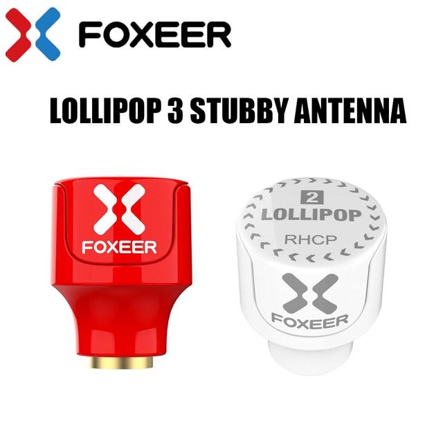Foxeer Lollipop 3 antena corta 5,8G 2.3Dbi RHCP polarizada circular 22,7mm 4,8g FPV SMA Micro de la antena del receptor para FPV Racing drone