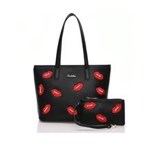 Purses And Handbags Bag Set Designer Handbag For Women Fashion PU Leather Lady Black Purse 2016
