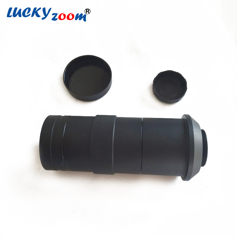 Black 8X-100X C-mount Lens Adapter For Industry Stereo Zoom Microscope Video Camera 55mm-285mm Ring 40mm DIA Free Shipping free shipping hd industry microscope camera 2 0mp vga usb cvbs av tv outputs 8x 130x c mount lens