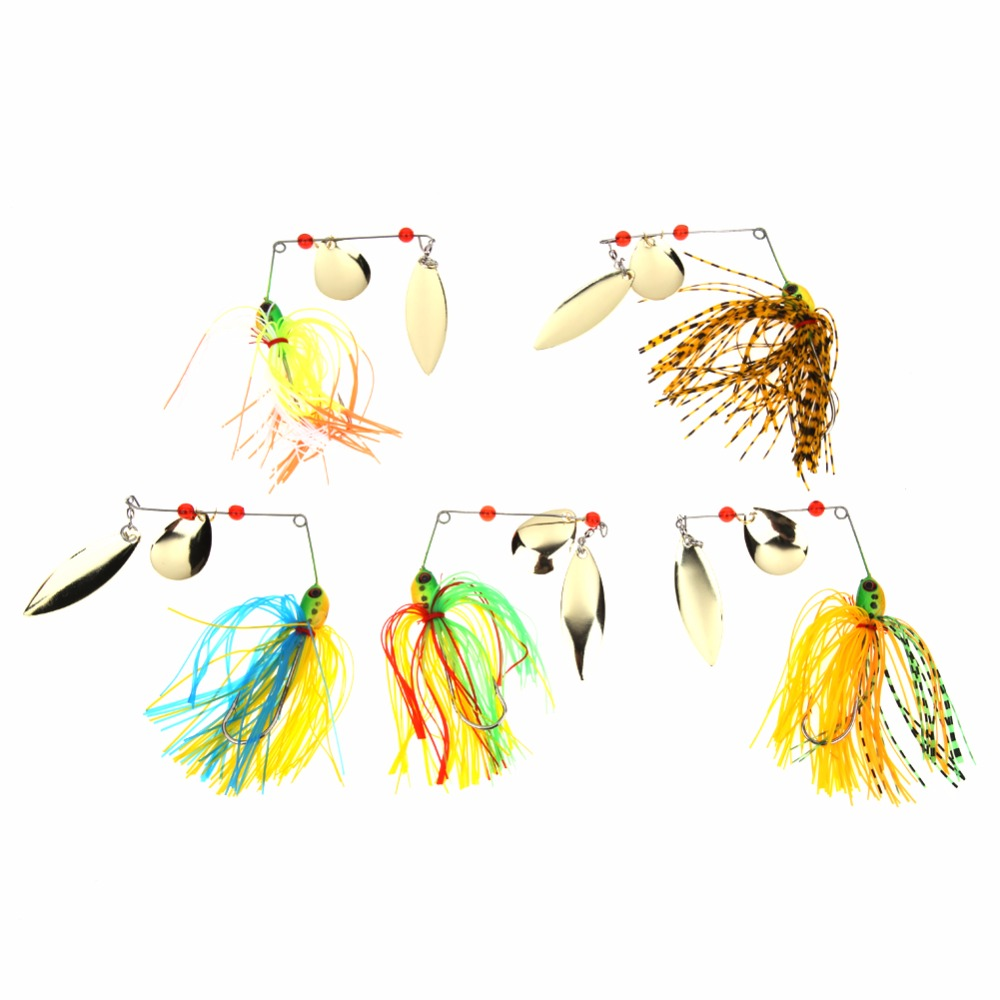 5pcs Fishing Spinner Lures Bass CrankBait Bait Tackle Crank with Treble Hook Vissen Harde Spinner Lokken Spinnerbait Pike Bass 1pcs high quality 5 4g 6cm fishing lures minnow crank bait crankbait bass tackle treble hooks fishing tackles hard baits pesca