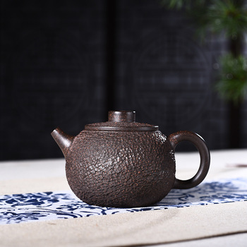 Goods Manual Raw Ore Black Gold Just Large Ship Kettle Kungfu Online Teapot Tea Set A Piece Of Generation Hair